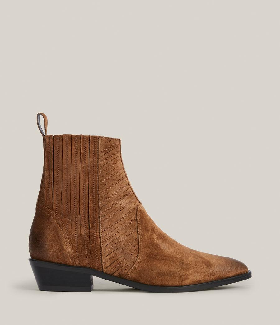 Women's Fion Suede Boots (dark_tan) - Image 1
