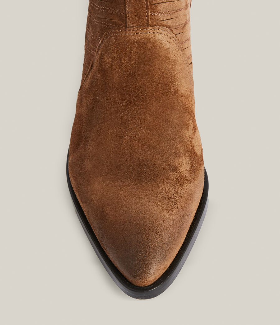 Women's Fion Suede Boots (dark_tan) - Image 3