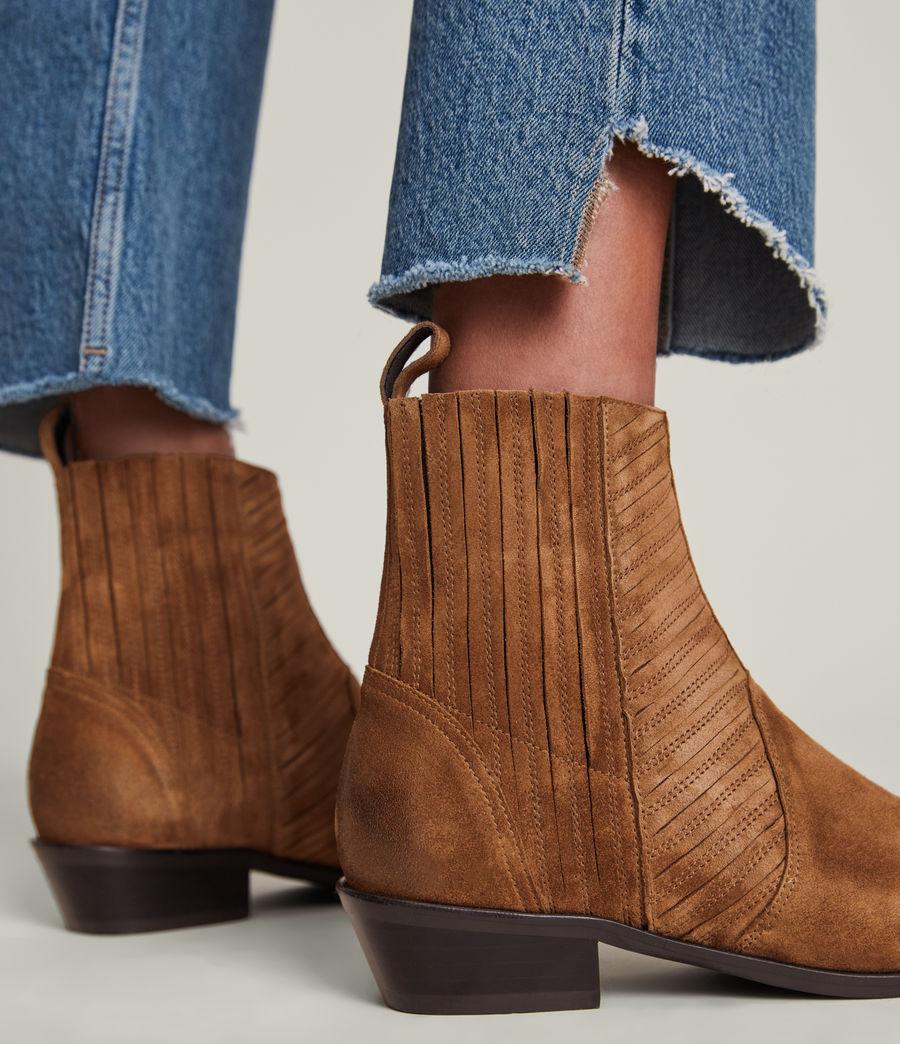 Women's Fion Suede Boots (dark_tan) - Image 4