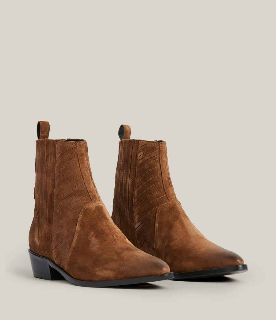 Women's Fion Suede Boots (dark_tan) - Image 5