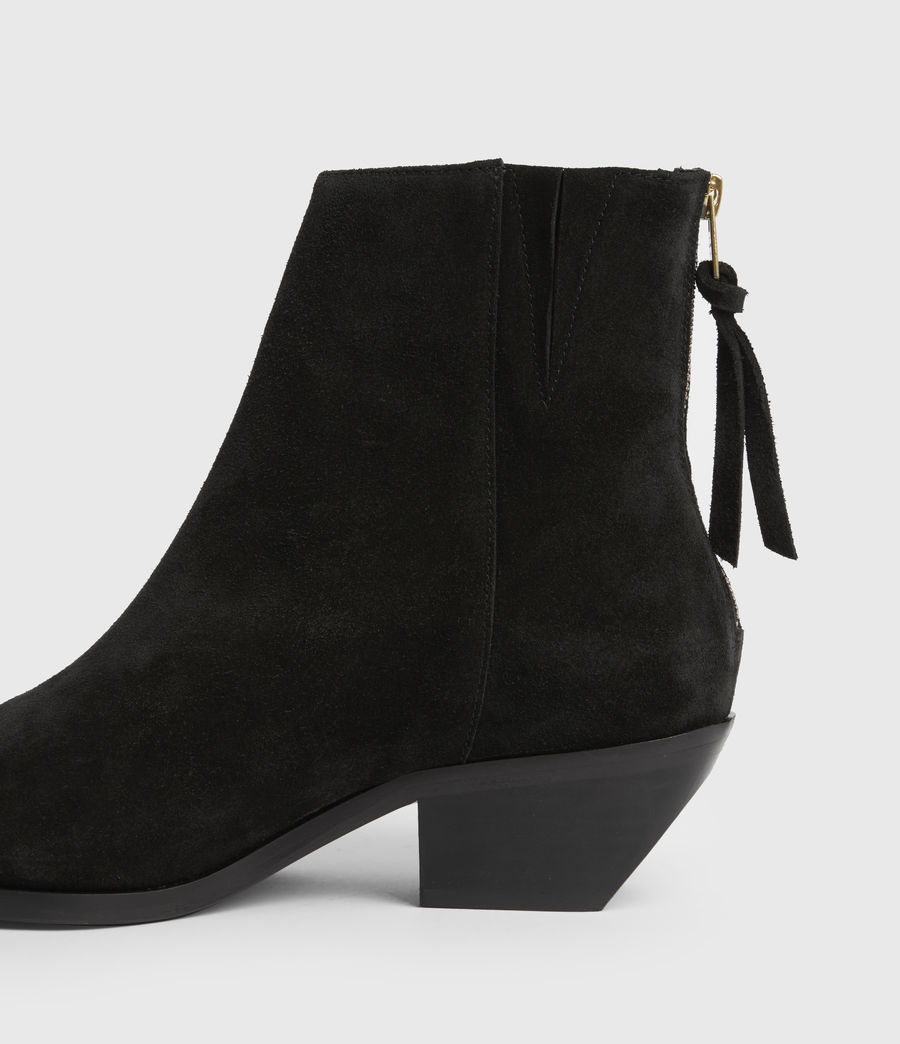 Women's Layla Suede Fringe Boots (black) - Image 7