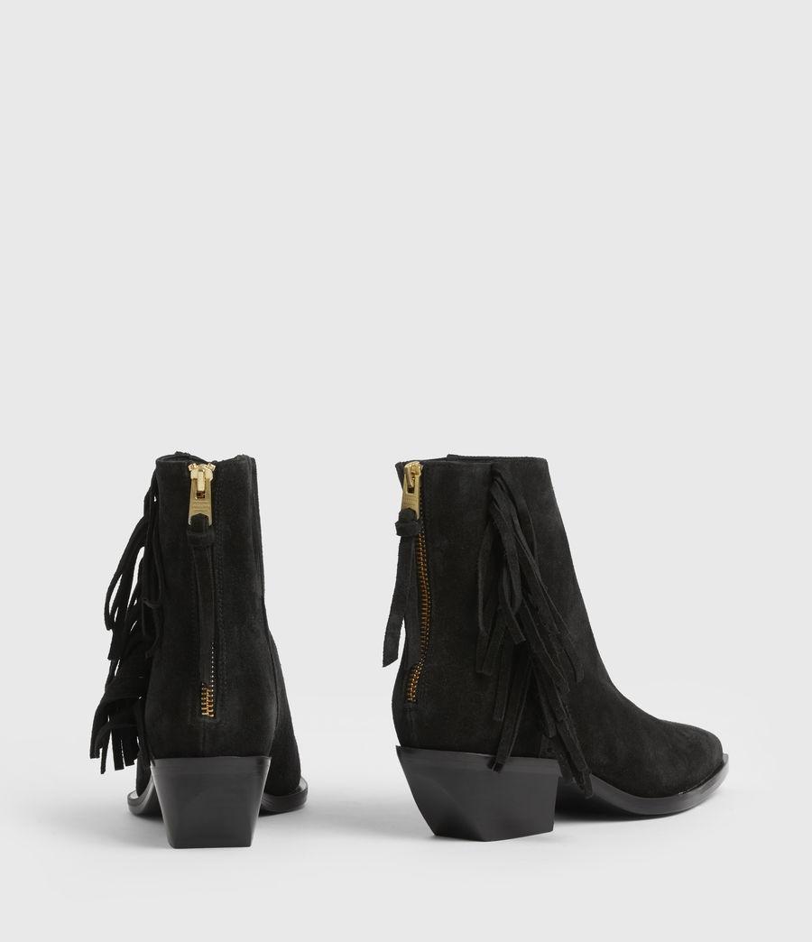 Women's Layla Suede Fringe Boots (black) - Image 8