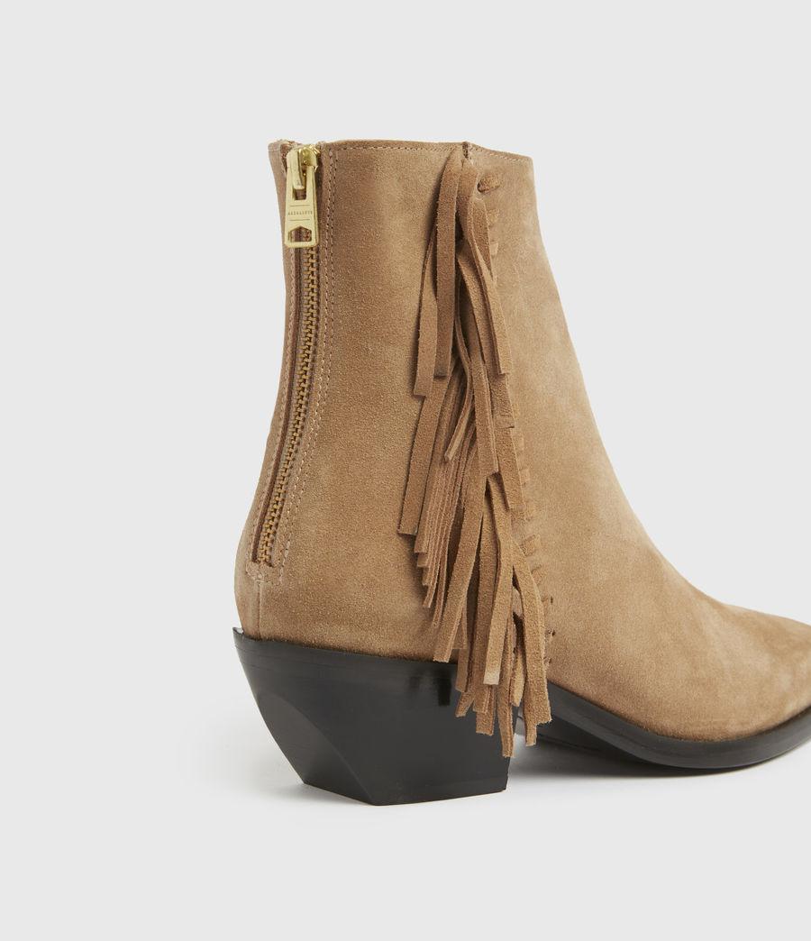 Damen Layla Suede Fringe Boots (cognac) - Image 2