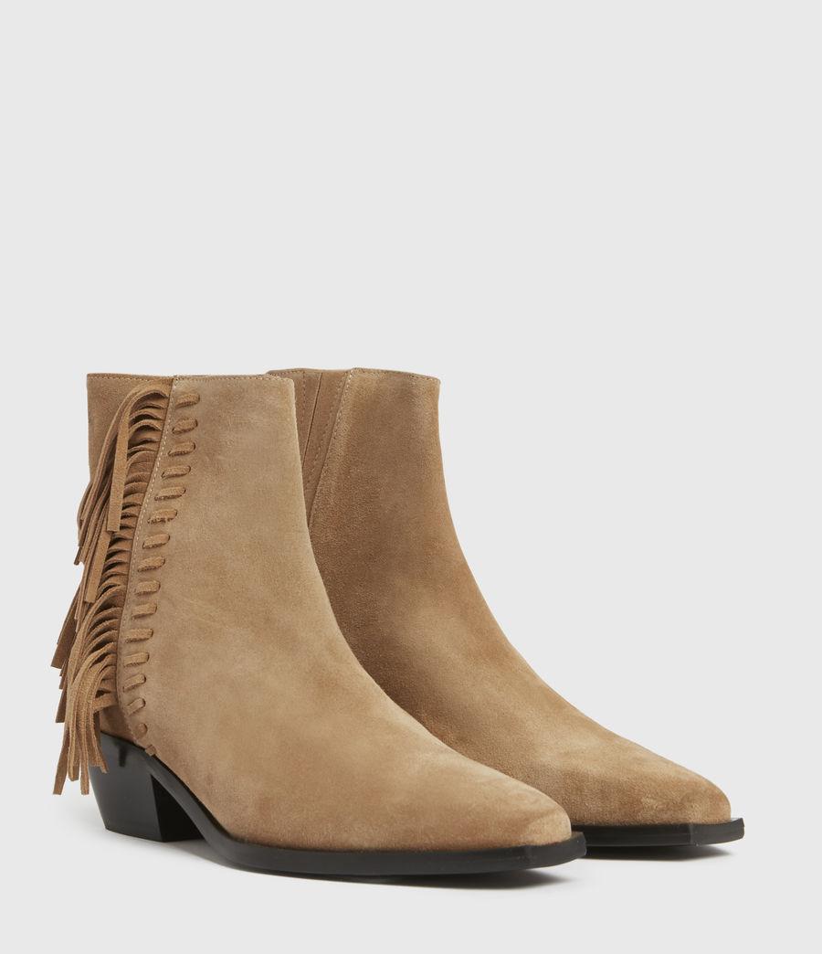 Damen Layla Suede Fringe Boots (cognac) - Image 4