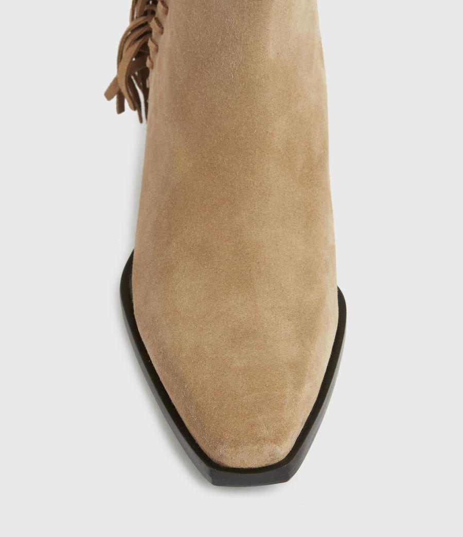 Damen Layla Suede Fringe Boots (cognac) - Image 5