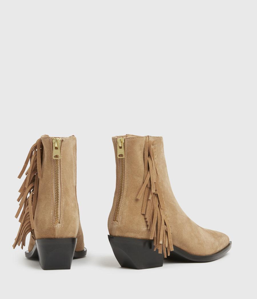 Damen Layla Suede Fringe Boots (cognac) - Image 6