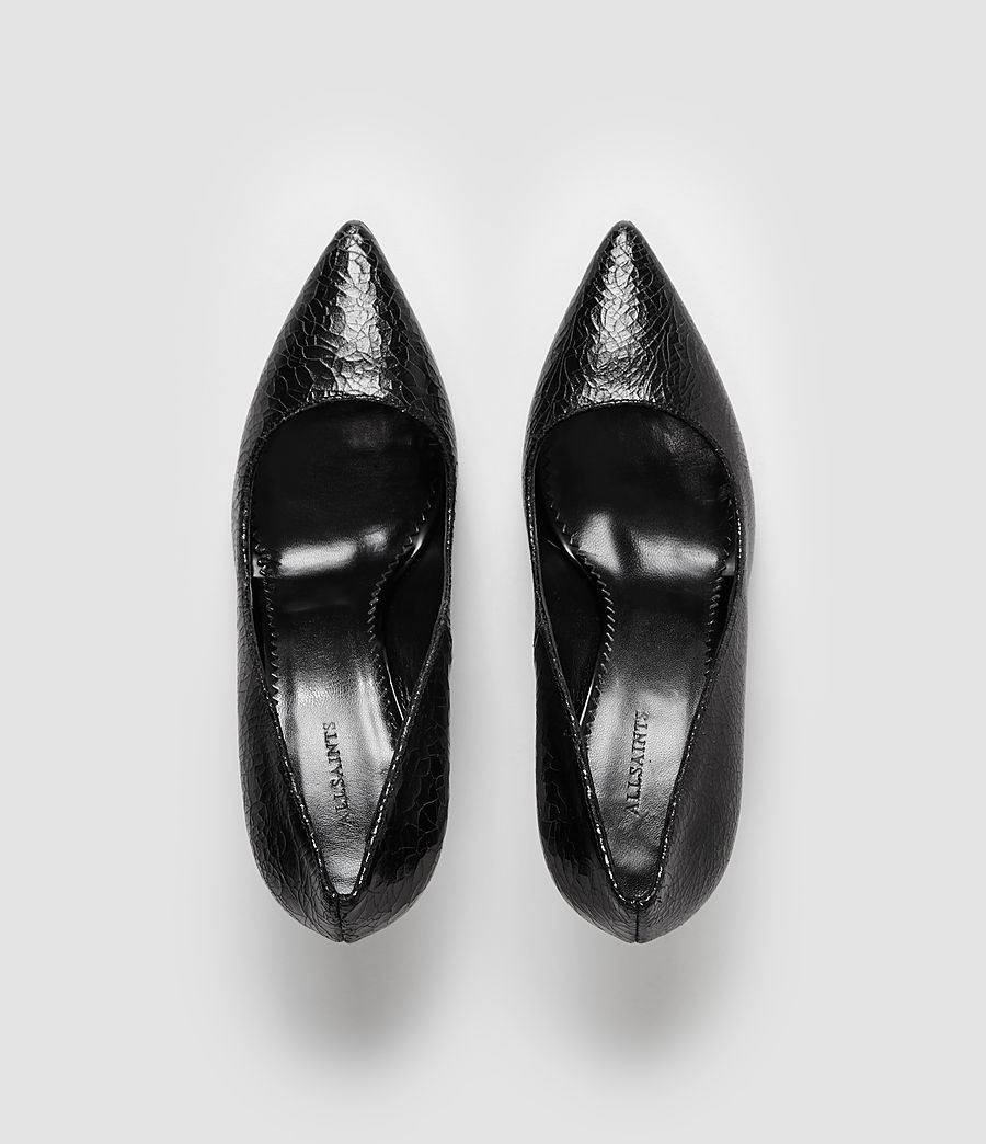 Donne Lena Pumps (black_crackle) - Image 4