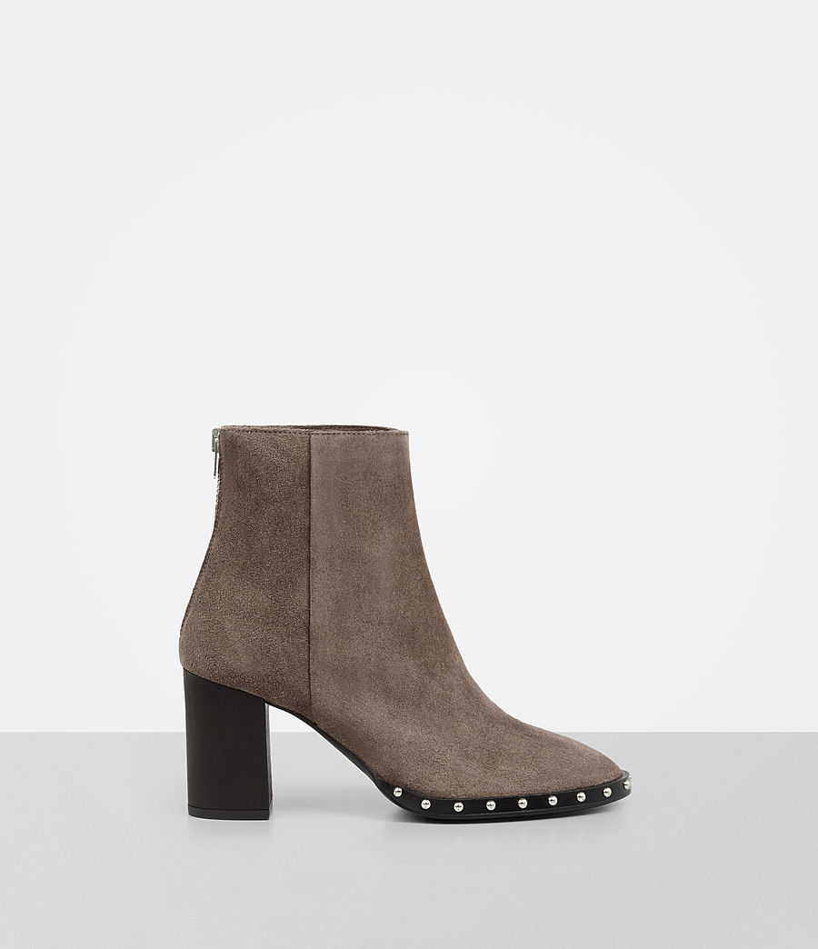 AllSaints STUDDED SARRIS - High heeled ankle boots - almond brown