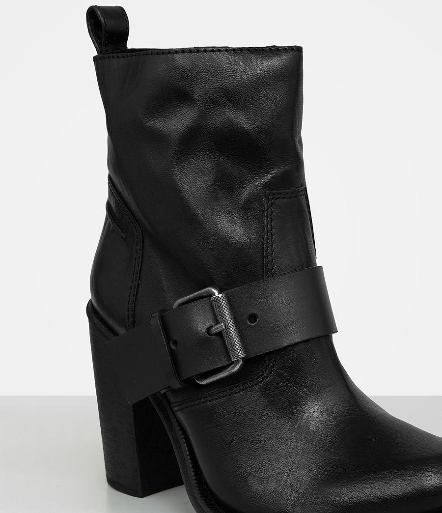 Femmes Bottes à talon Zadie en shearling (black) - Image 2