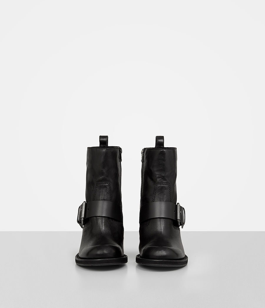 Damen Zadie Heeled Shearling Boot (black) - Image 4