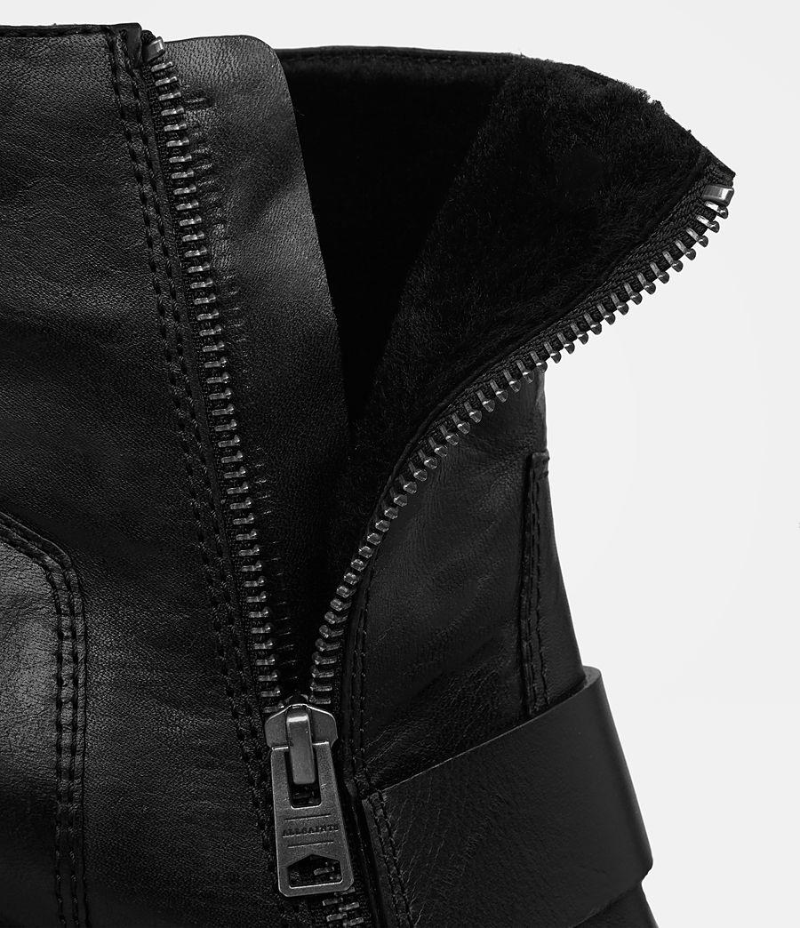 Femmes Bottes à talon Zadie en shearling (black) - Image 6