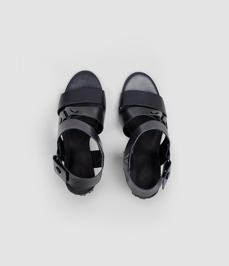 Women's East Heel Sandal (navy) - Image 4