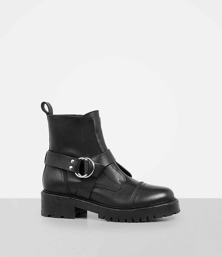Womens Erika Military Boot (black) - Image 3