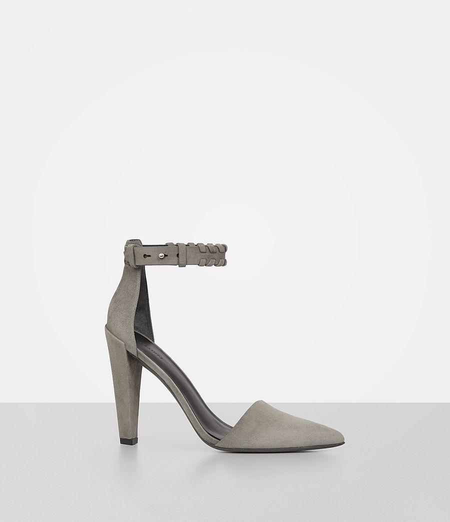 Women's Gabie Suede Sandal (smoke_grey) - Image 2