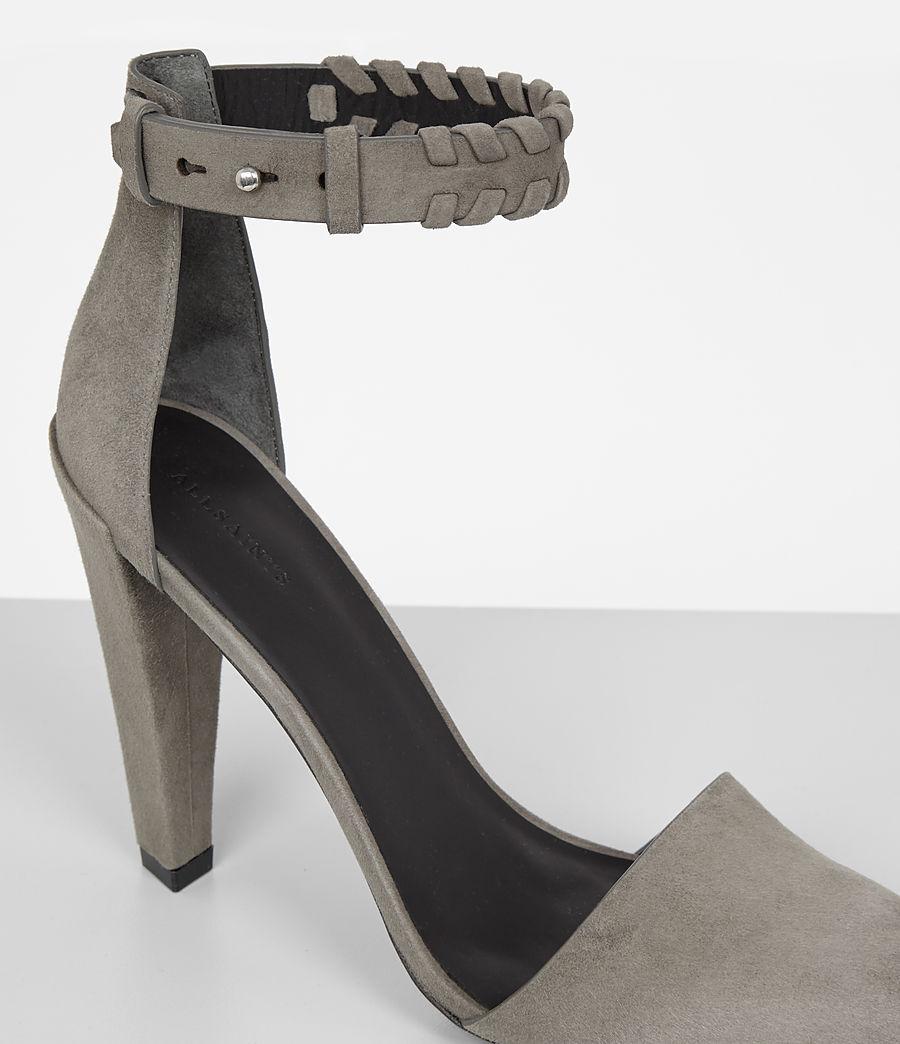 Women's Gabie Suede Sandal (smoke_grey) - Image 3