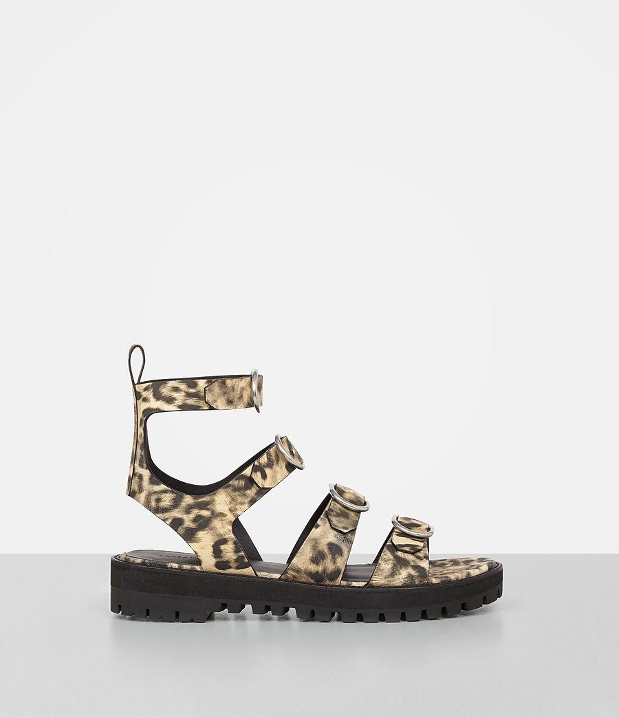 Damen Raquel Leopard Suede Sandal (leopard) - Image 1