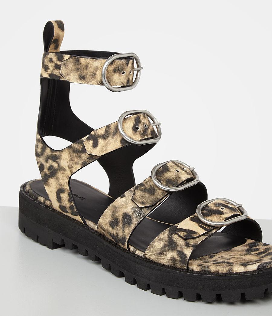 Damen Raquel Leopard Suede Sandal (leopard) - Image 3