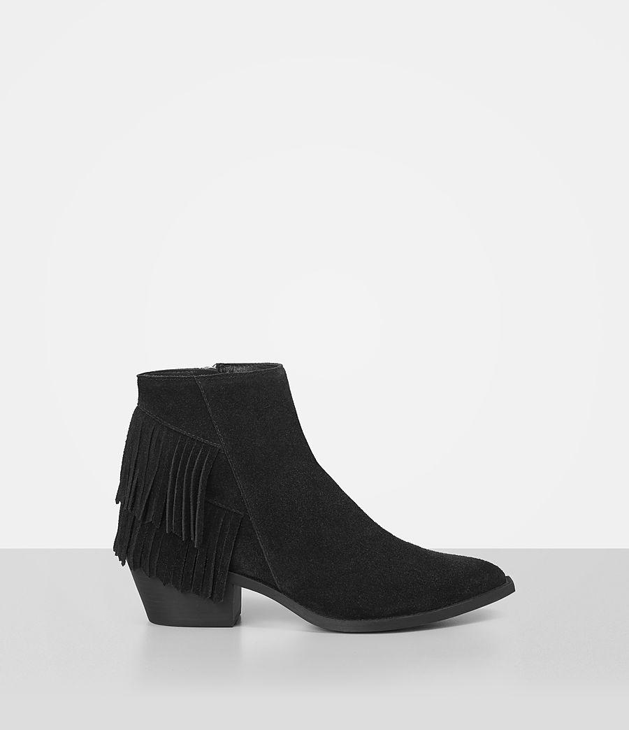 Femmes Bottes Salerno en cuir velours (black) - Image 1