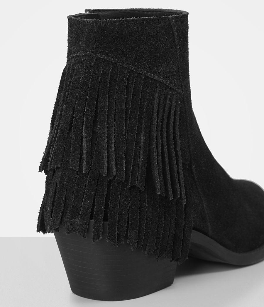Femmes Bottes Salerno en cuir velours (black) - Image 2