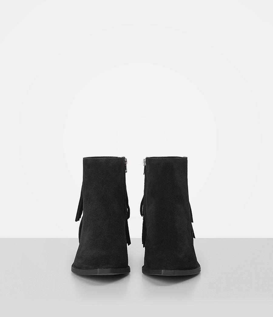 Femmes Bottes Salerno en cuir velours (black) - Image 4