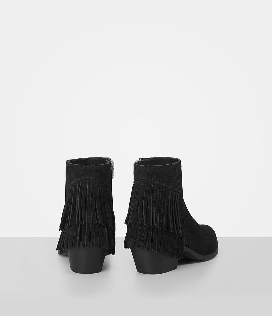 Femmes Bottes Salerno en cuir velours (black) - Image 5