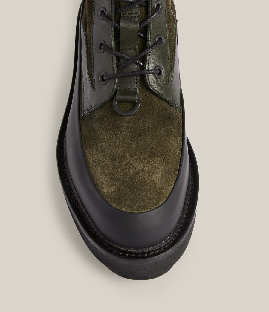 Women's Bexley Leather Suede Boots (khaki_green) - Image 2