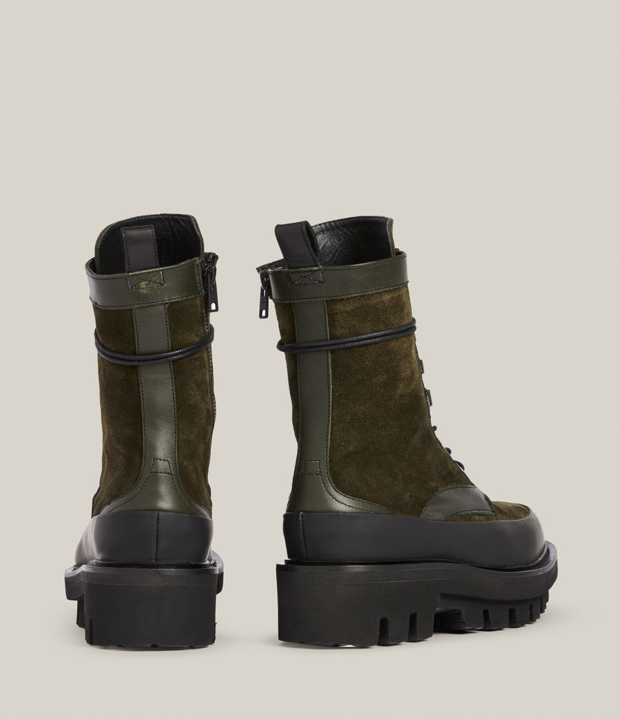 Women's Bexley Leather Suede Boots (khaki_green) - Image 5