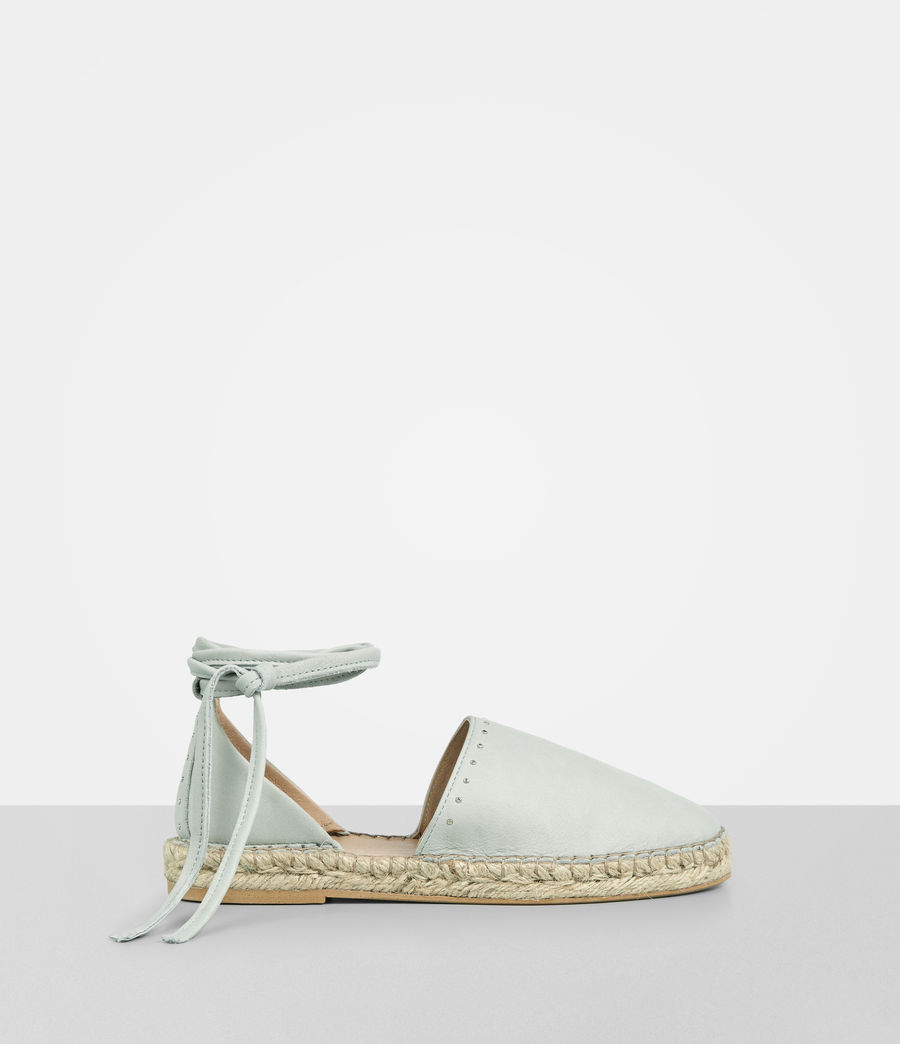 Mujer Straw Espadrille (cement_grey) - Image 1