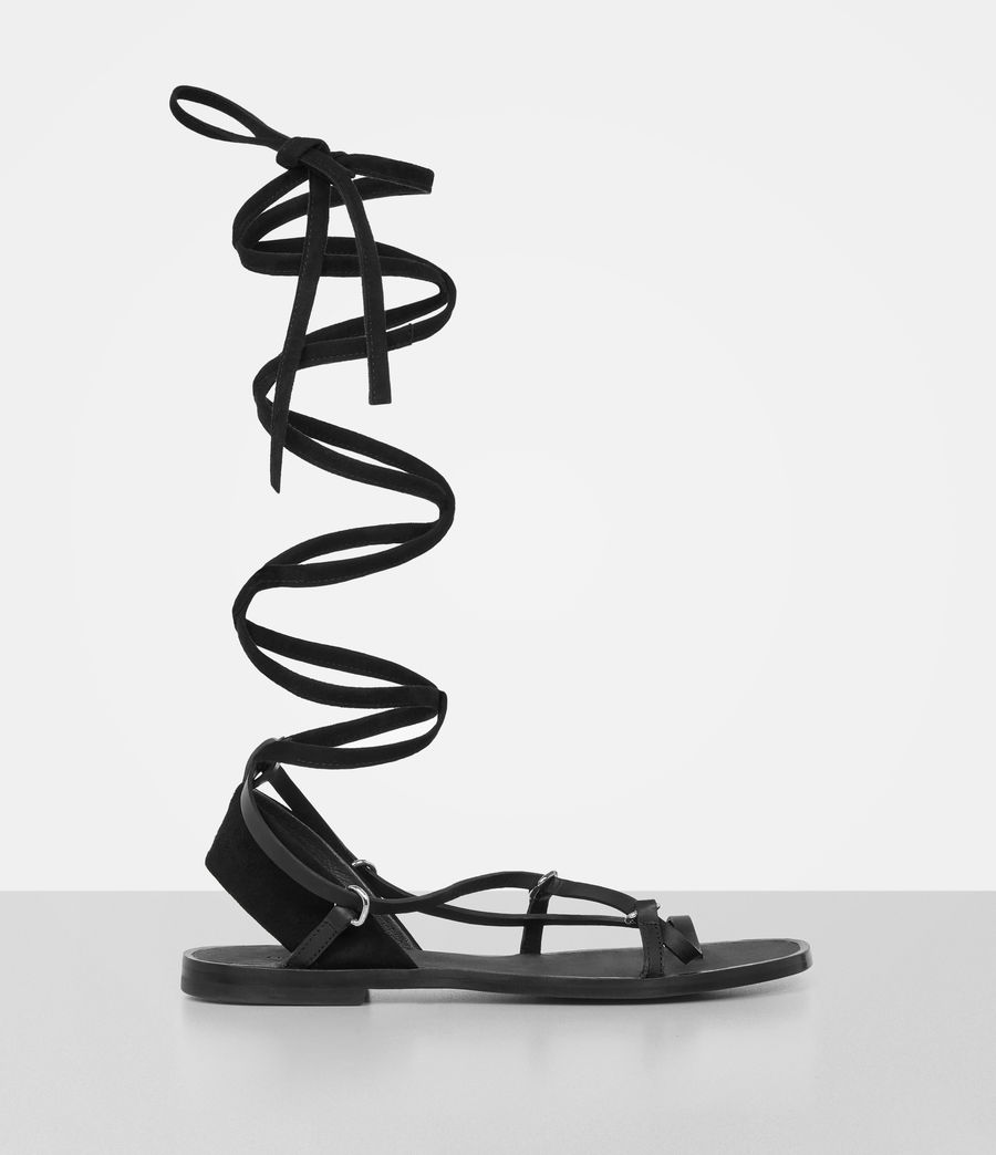 Womens Alba Sandals (black) - Image 3