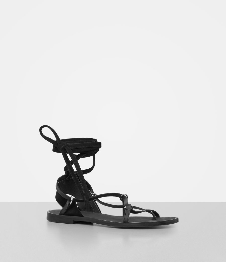 Women's Alba Sandals (black) - Image 4