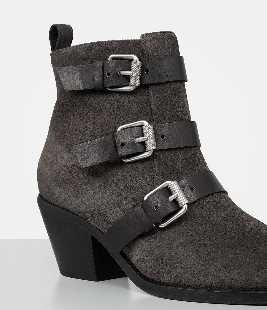 Femmes Bottes Lulu en cuir velours (grey) - Image 2