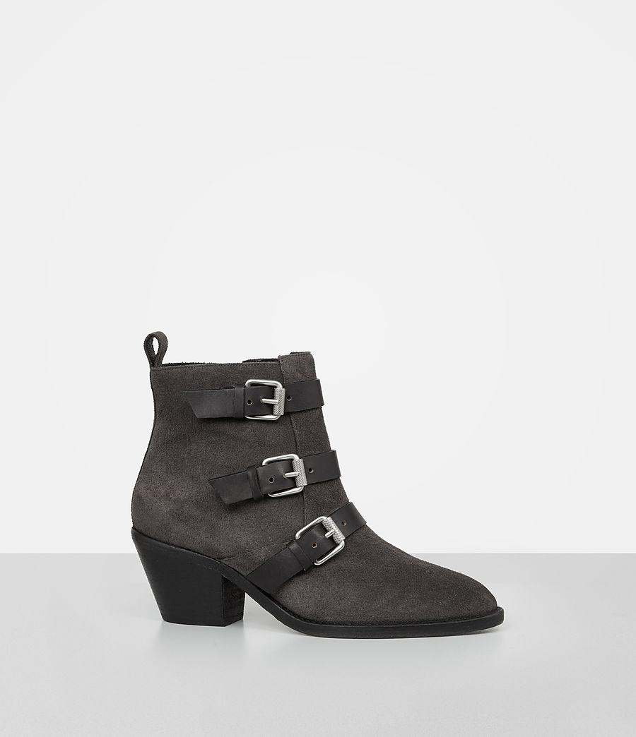 Femmes Bottes Lulu en cuir velours (grey) - Image 3