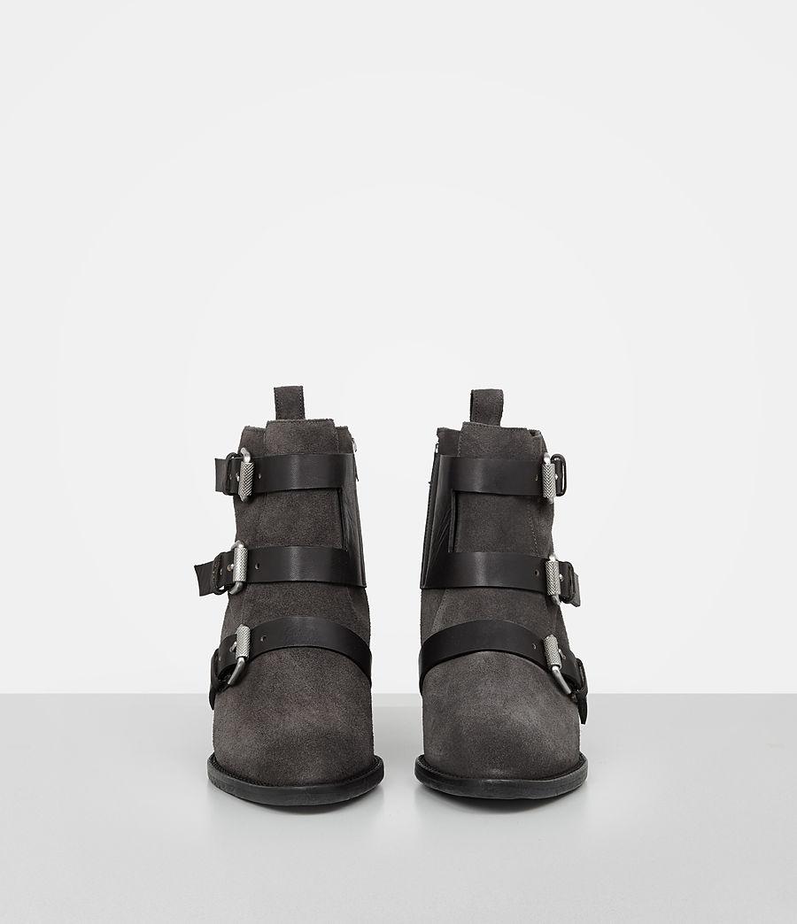 Femmes Bottes Lulu en cuir velours (grey) - Image 4