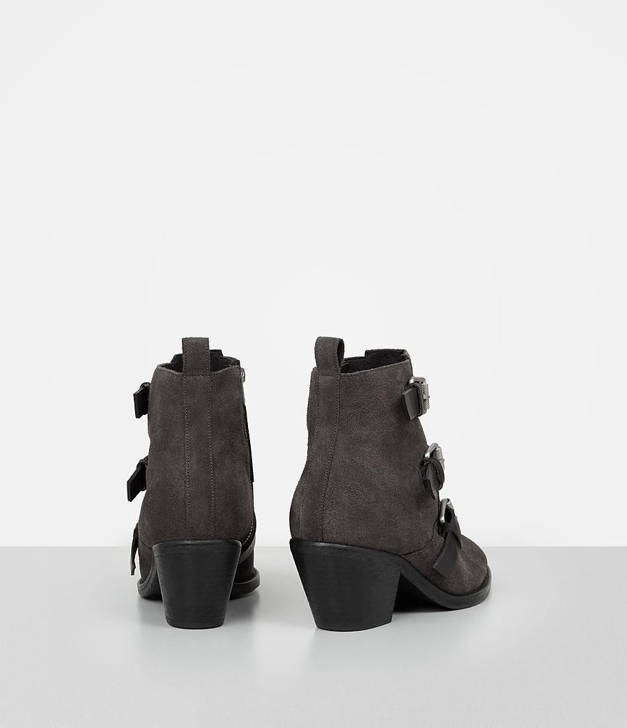 Femmes Bottes Lulu en cuir velours (grey) - Image 5