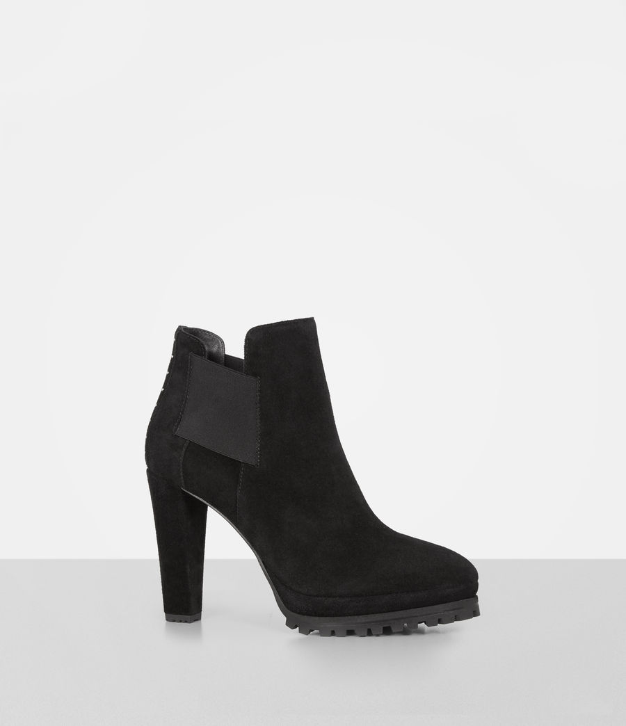 Womens Studded Sarris Boot (matt_black) - Image 3