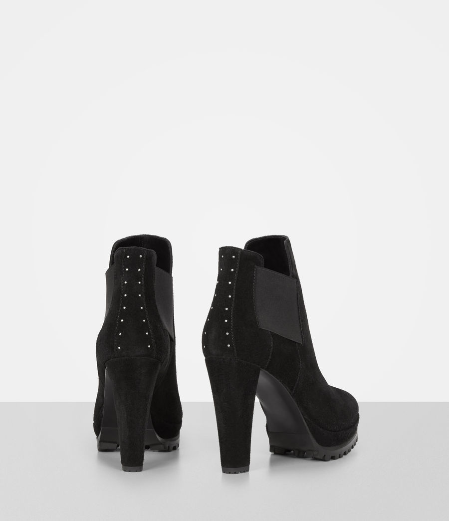 Womens Studded Sarris Boot (matt_black) - Image 5