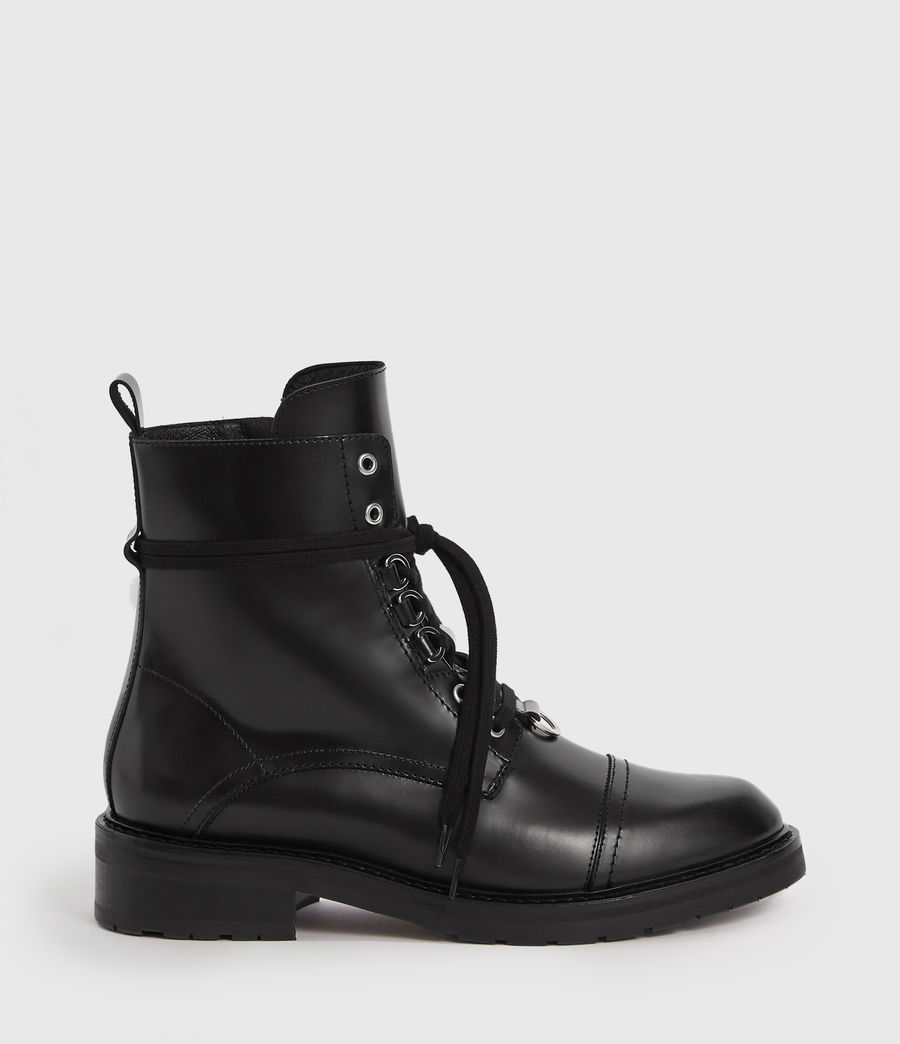 Women's Lira Leather Boots (black) - Image 1