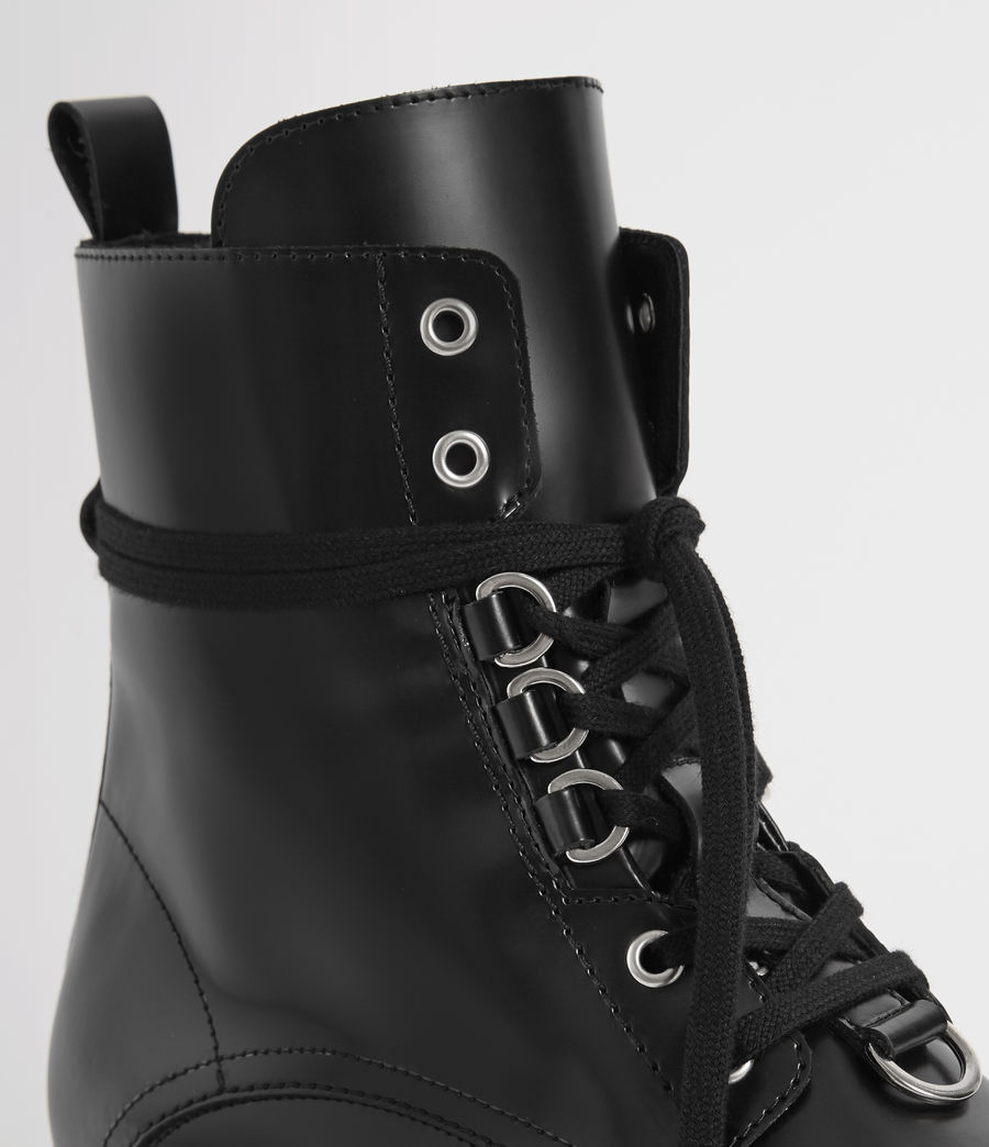 Women's Lira Leather Boots (black) - Image 2