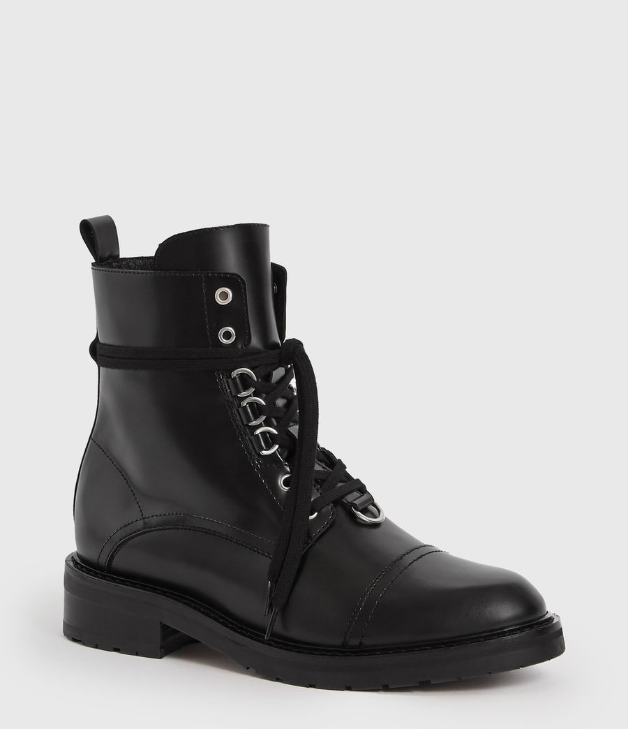 Women's Lira Leather Boots (black) - Image 3