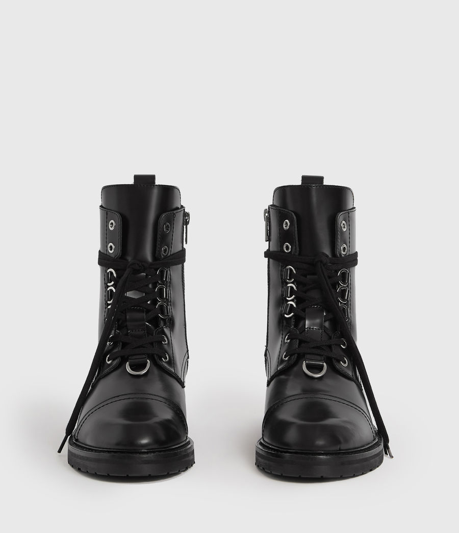 Women's Lira Leather Boots (black) - Image 4