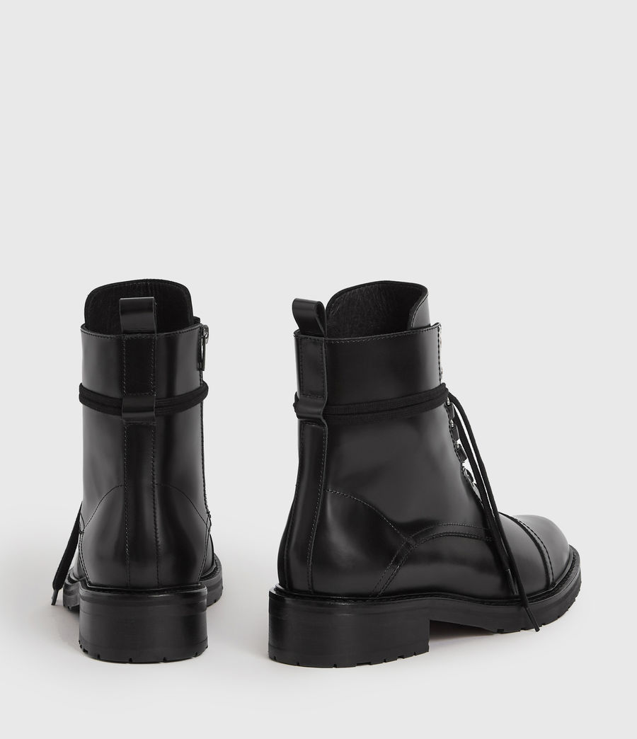 Women's Lira Leather Boots (black) - Image 5
