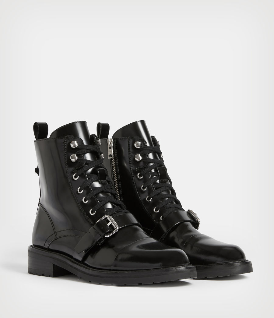 Womens Donita Lace Up Boot (black) - Image 4