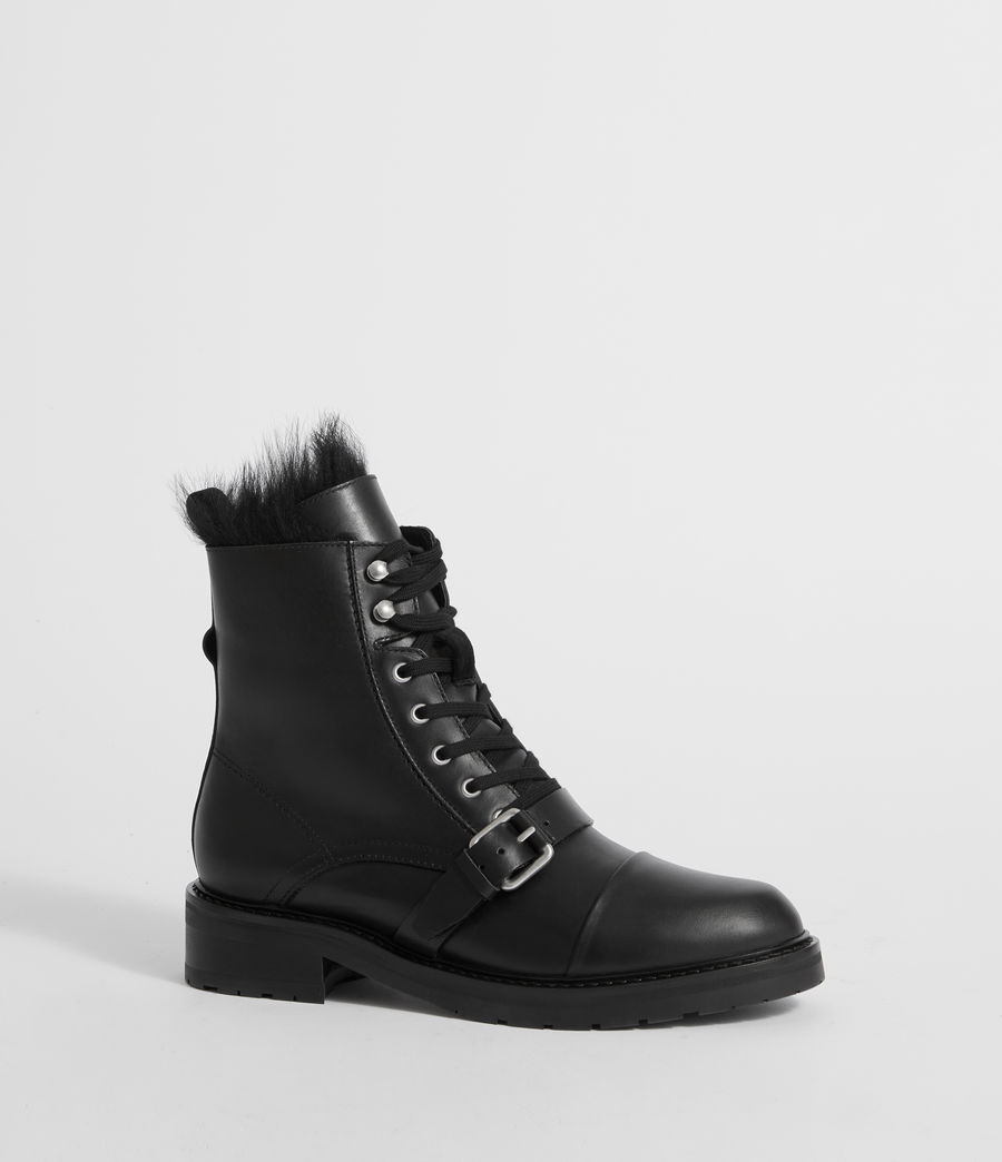 Womens Donita Shearling (black) - Image 3