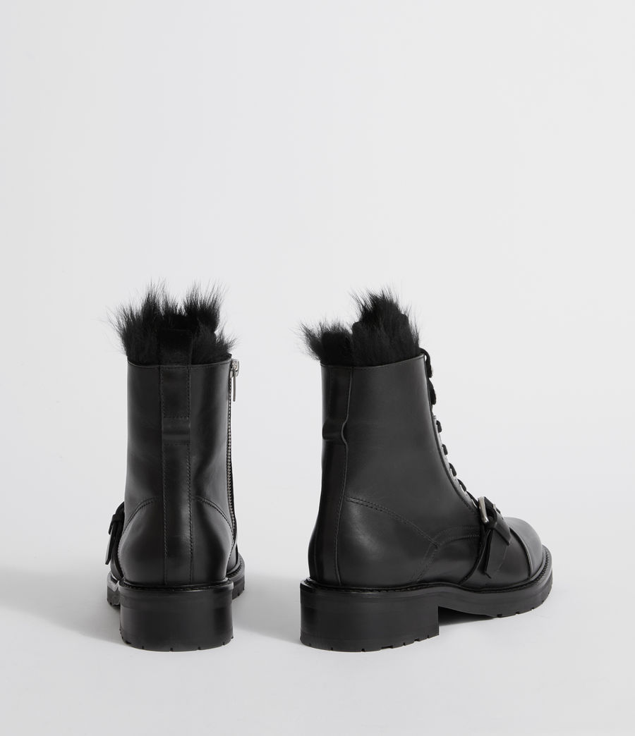 Womens Donita Shearling (black) - Image 5