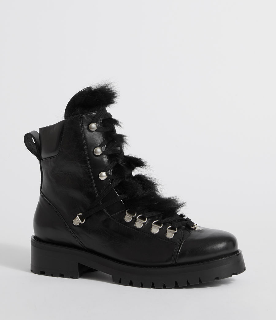 Womens Franka Shearling Boot (black) - Image 3