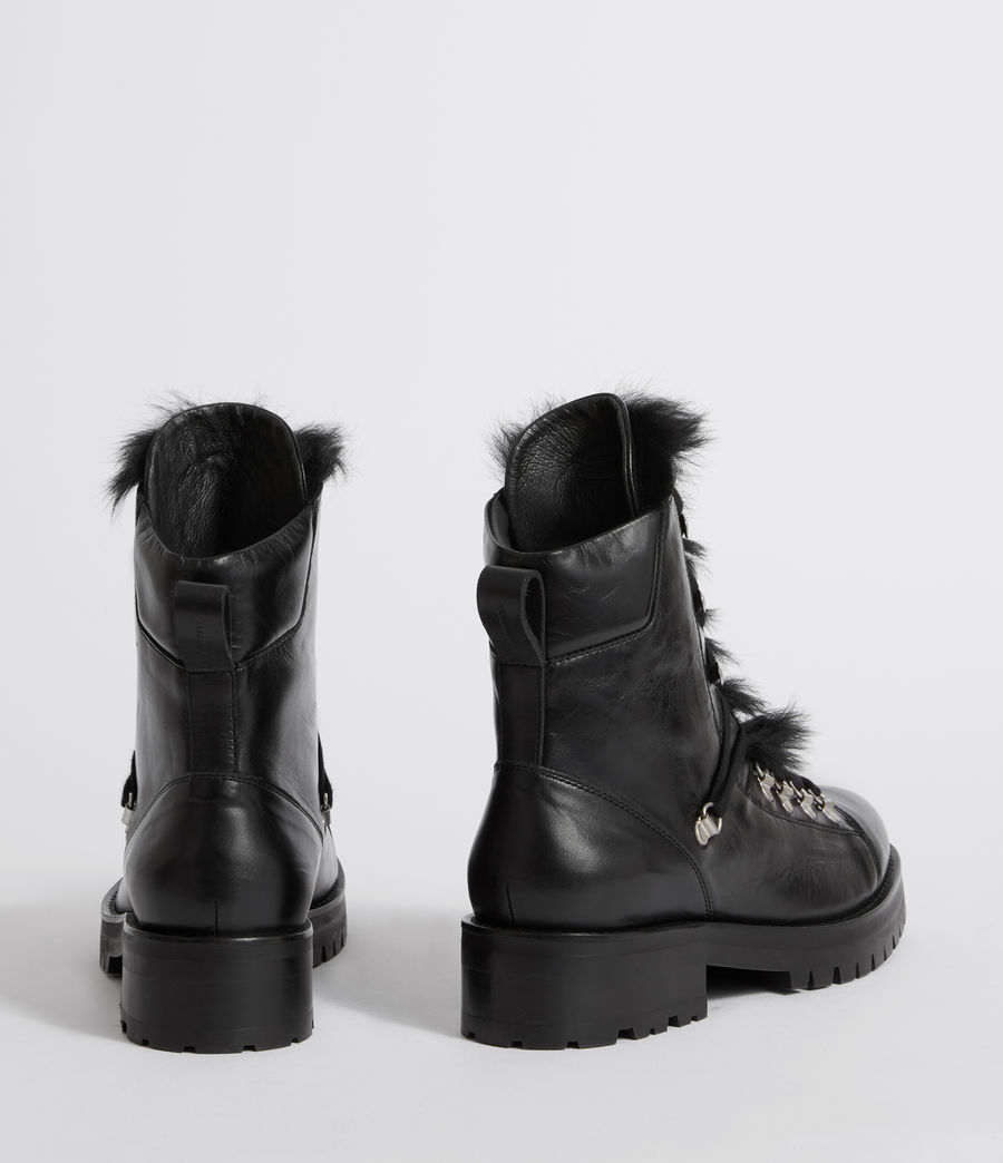 Womens Franka Shearling Boot (black) - Image 5