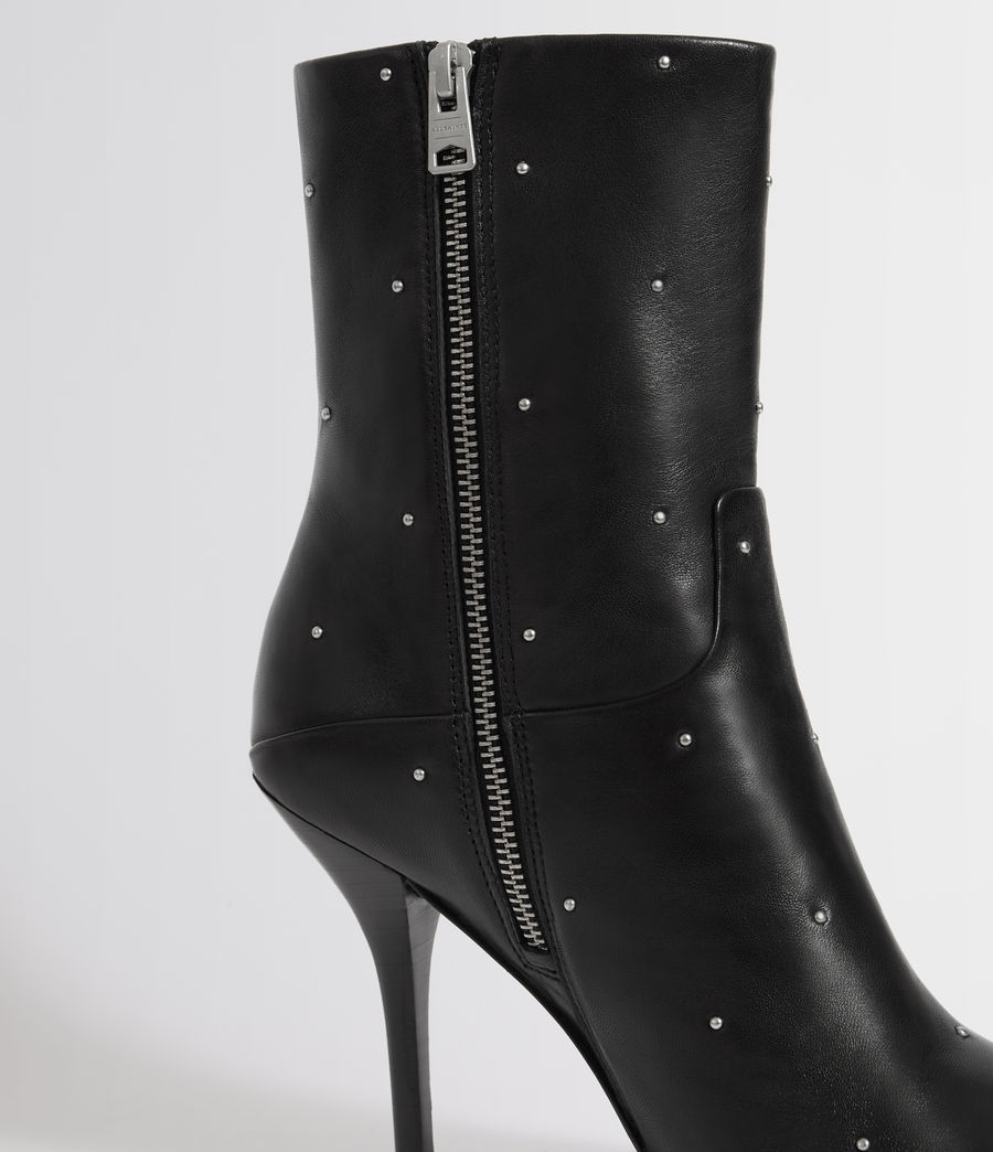 Womens Jenna Stud Boot (black) - Image 2