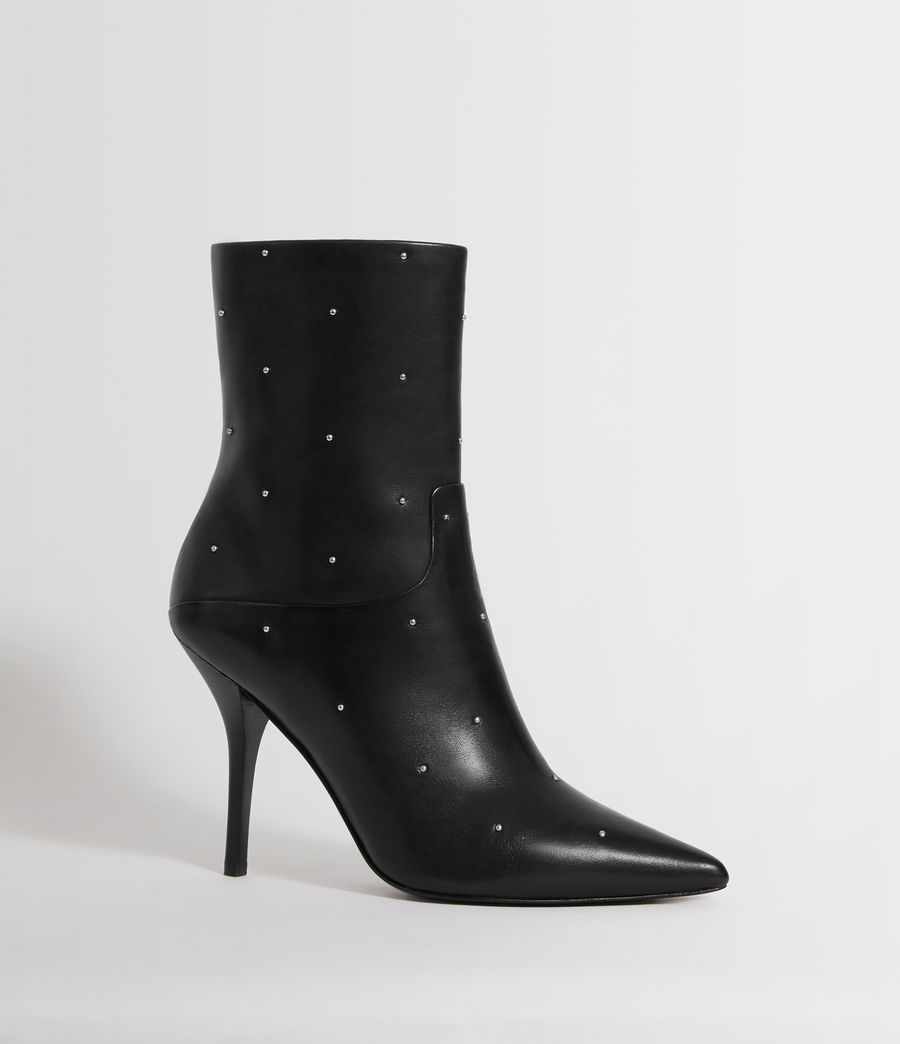 Womens Jenna Stud Boot (black) - Image 3