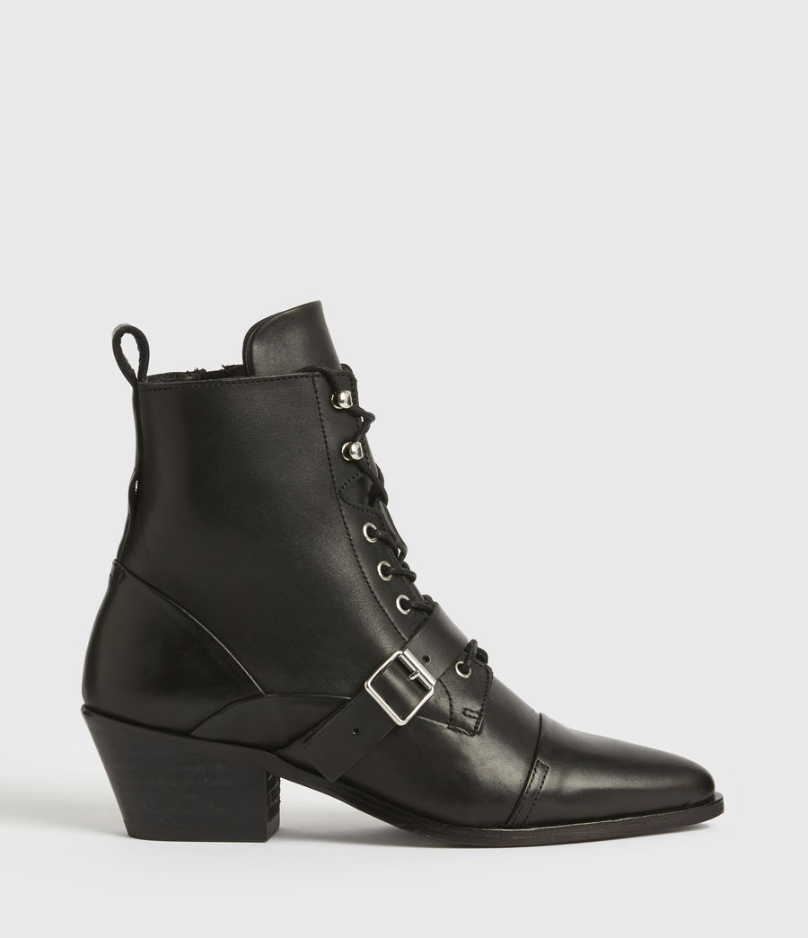 Women's Katy Leather Boots (black) - Image 1
