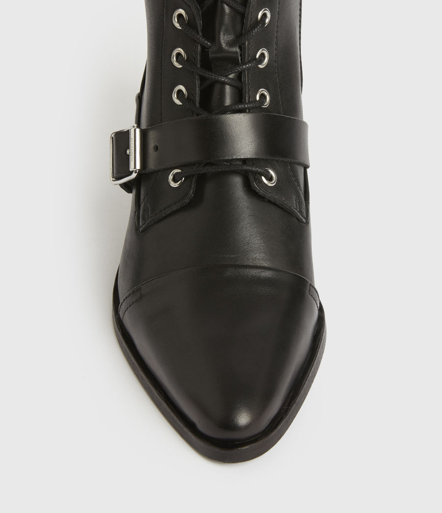 Women's Katy Leather Boots (black) - Image 2